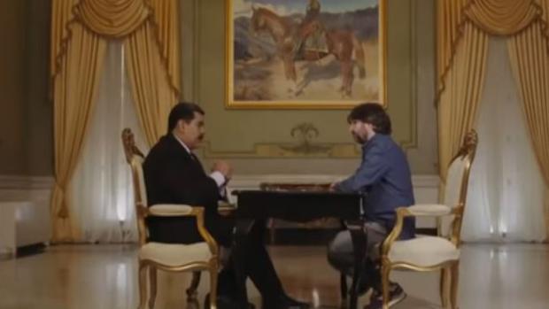Nicolás Maduro y Jordi Évole, durante una entrevista en Venezuela