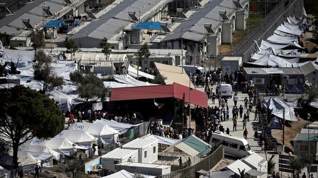 Campo de refugtiados de Moira, en Lesbos