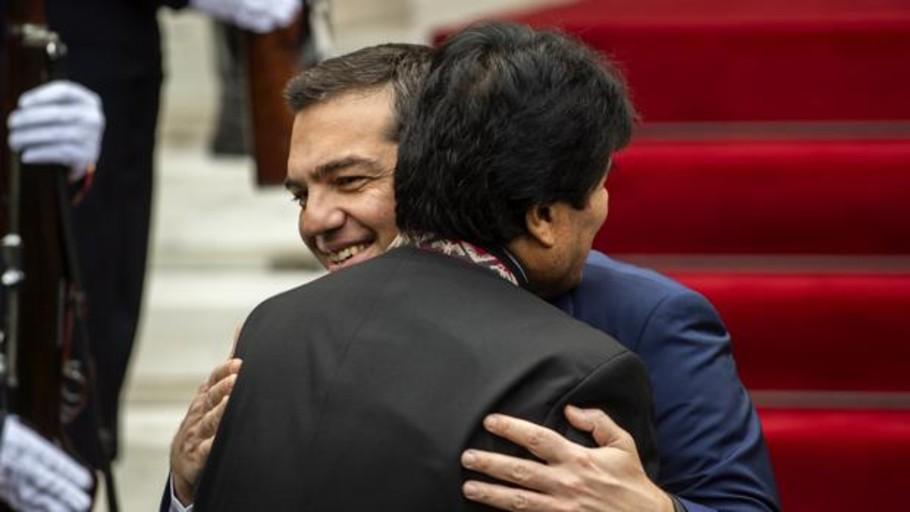 Morales y Tsipras rechazan una solución militar para Venezuela