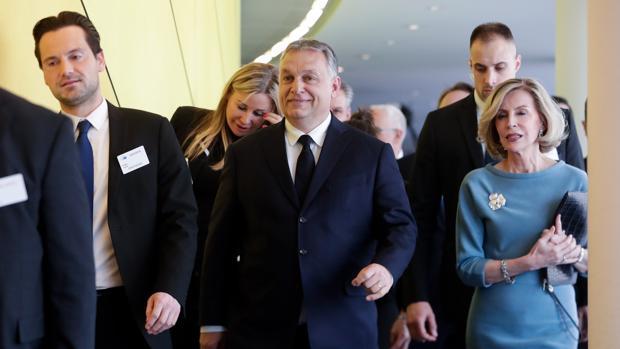 El primer ministro húngaro, Orbán, a su llegada a la asamblea del PPE en Bruselas