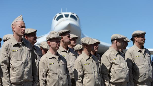 En diciembre de 2018, la Fuerza Aérea rusa se paró frente a un avión bombardero al aterrizar en el Aeropuerto Internacional de Maiquetia