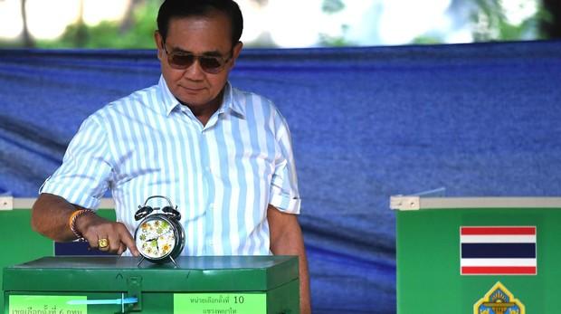 El jefe de la Junta militar y candidato del Palang Pracharat, el general Prayut Chan-o-cha