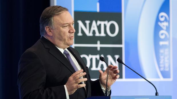 Mike Pompeo, tras la reunión de ministros de Exteriores de la OTAN en Washington