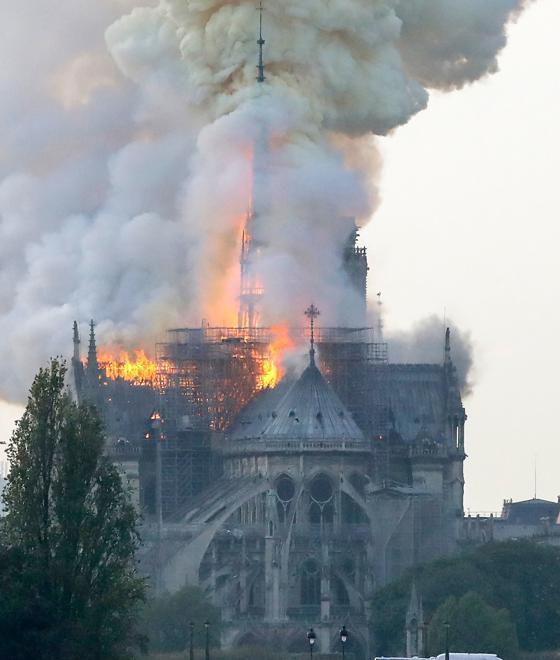 Aspecto que presenta la Catedral de Notre Dame