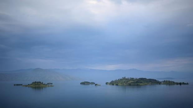 Imagen del Lago Kivu, donde se ha hundido el barco