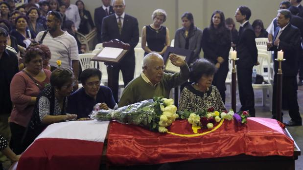 El funeral de Alan García en Lima