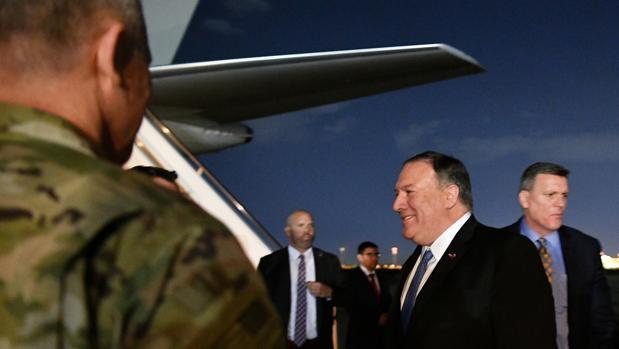El secretario de Estado de EE.UU., Mike Pompeo, a su llegada a Bagdad este martes