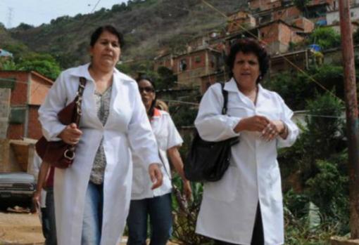 Mécdicos cubanos de misión en Venezuela