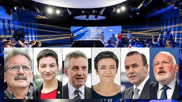 Directo: Sigue el debate entre los seis candidatos a presidir la Comisión Europea