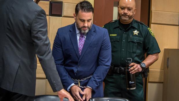 Pablo Ibar, este miércoles a su llegada a la audiencia en Fort Lauderdale (Florida)