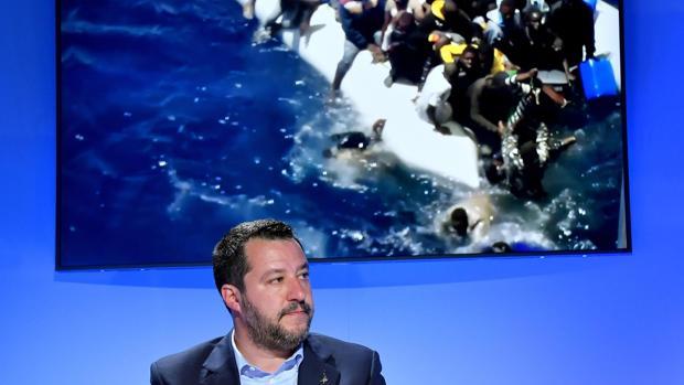 El ministro de Interior italiano, Matteo Salvini, durante un acto en Roma este lunes