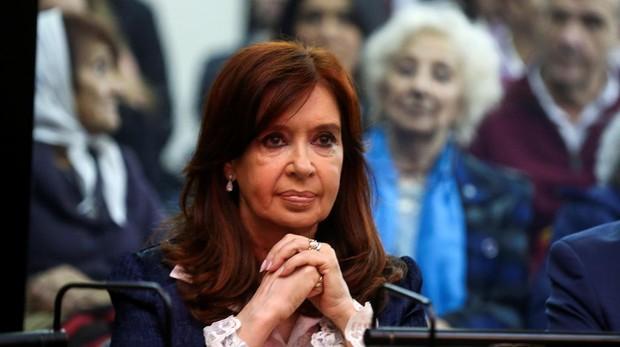 Cristina Fernández de Kirchner, este mrtes durante el juicio