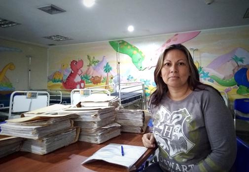 Ani Camacho, madre de Zabdiel, de cinco años, que tiene leucemia
