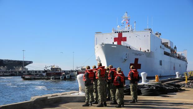 A bordo del hospital flotante que socorrerá a los venezolanos