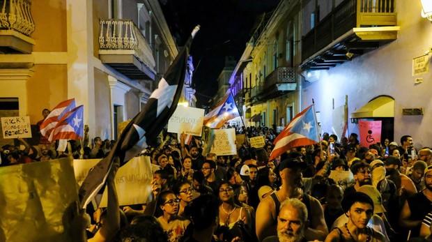 Disturbios en Puerto Rico por los insultos del gobernador en un chat