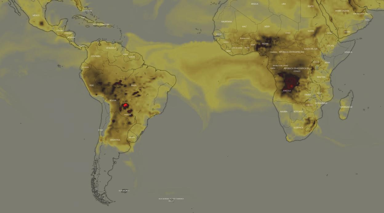 Calendario 1976 Argentina.Una Imagen De La Nasa Muestra Que Hay Mas Incendios Activos
