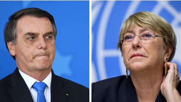 Bolsonaro, a Bachelet: «Si no fuera por Pinochet, Chile sería hoy una Cuba»