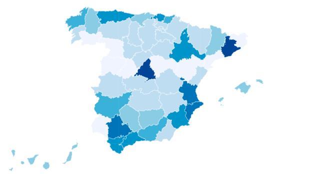 El mapa de la España sin suerte en la Lotería de Navidad