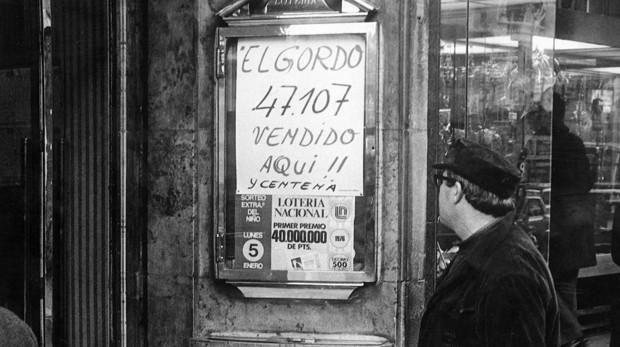Cartel de Doña Manolita tras vender el Gordo Premiado