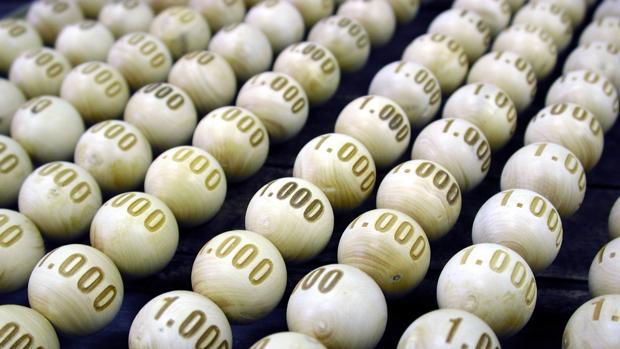 Bolas para el sorteo de Lotería de Navidad