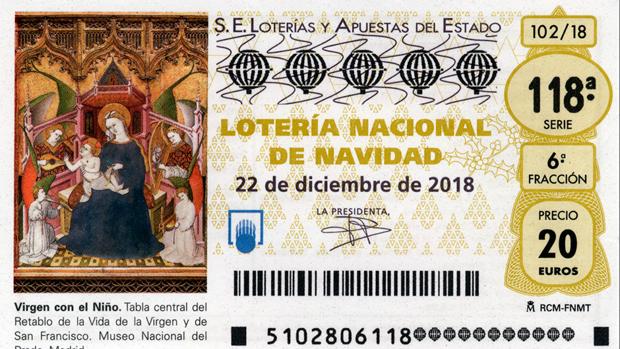 Décimo de Lotería de Navidad 2018