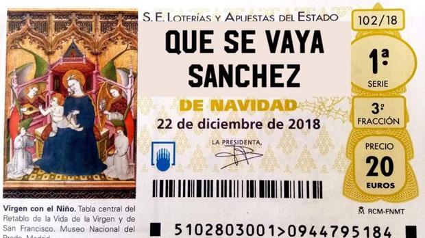 El falso décimo que círcula por Twitter pidiendo la explusión de Pedro Sánchez del Gobierno