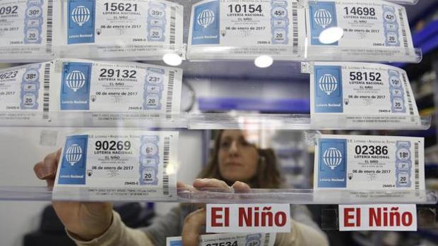Imagen de archivo de décimos para la Lotería del Niño