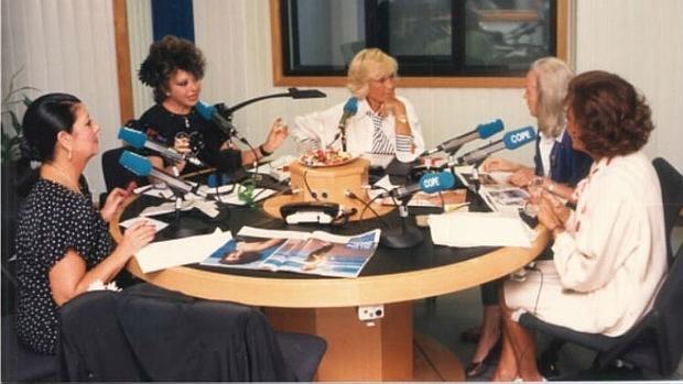 Encarna Sánchez, en el centro, en una imagen de archivo