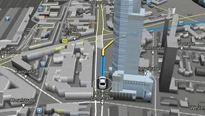 3D Map Engine muestra elementos tridimensionales en el navegador del coche