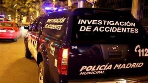 Control de alcoholemia realizado en Madrid por agentes de la policia municipal.