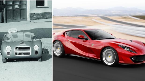 Ferrari 125s y 812 Superfast, pasado y futuro de la marca italiana