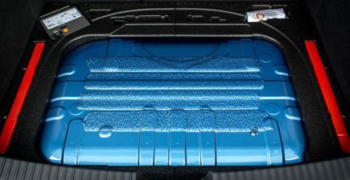 Depósito de gas, situado en el maletero del coche