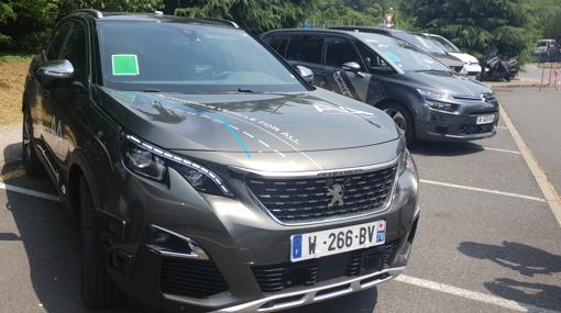 Los coches autónomos de nivel 3 utilizados durante la prueba
