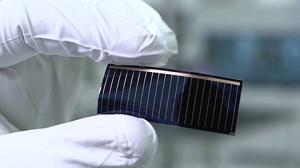 Detalle de una célula solar