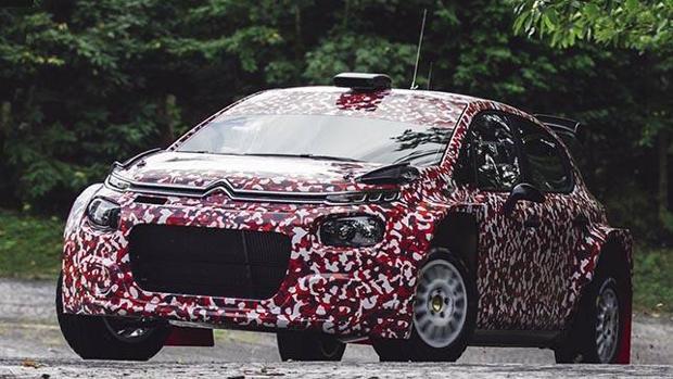 Todavía camuflado, el Citroën C3 R5 ha iniciado sus primeros kilómetros de pruebas