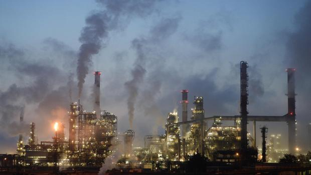 Una refinería de petróleo en Donges