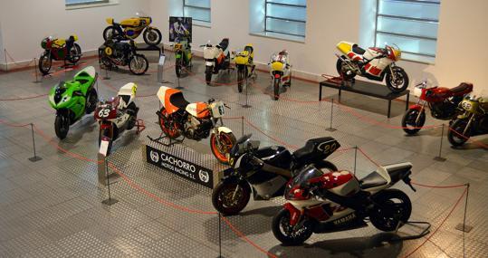 Parte principal de la exposición «60 años de velocidad en Salamanca»