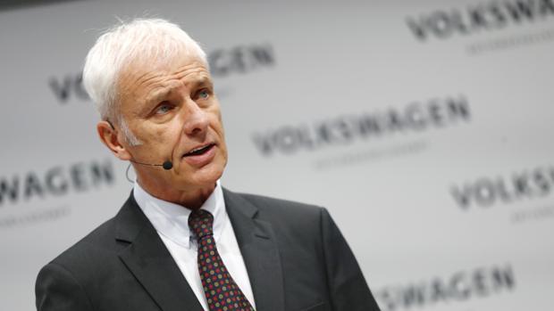 Matthias Muller, presidente de Volkswagen, durante la presentación de resultados del grupo