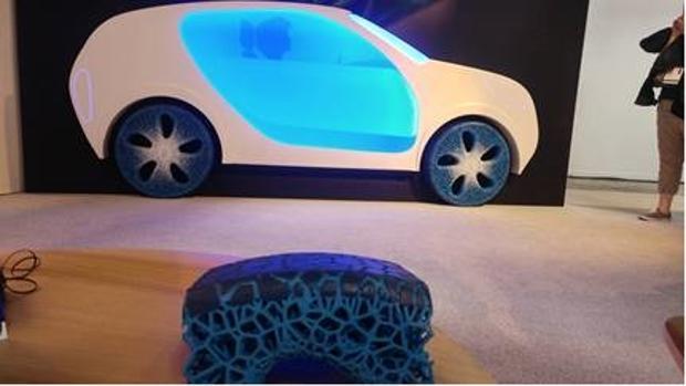 Prototipo Vision de Michelin, una fusión entre neumático sin aire y llanta