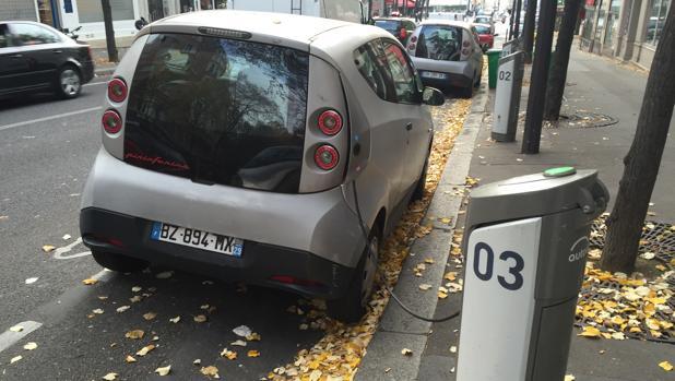 Vehículos eléctricos en París