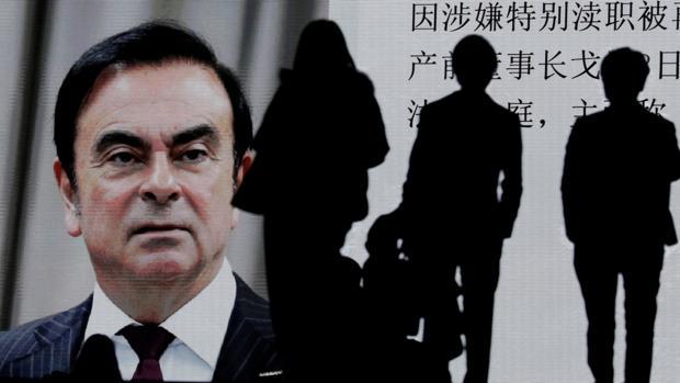 Información sobre Carlos Ghosn proyectada en Japón