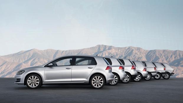 Siete generaciones del Volkswagen Golf
