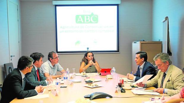 Participantes del foro de ABC «Agricultura de conservación en un entorno de cambio climático» del pasado 4 de octubre