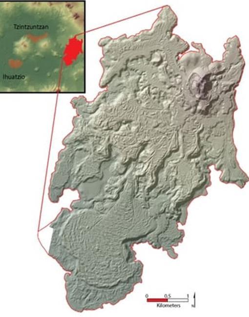 Extensión del malpaís, el agreste campo de lava, en el que los Tarascos decidieron construir su megalópolis