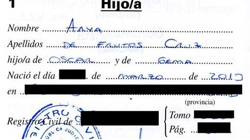 Fotografía del nombre Arya de Frutos Cruz inscrito en el Registro