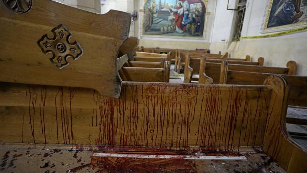 La iglesia copta de Tanta, tras el atentado terrorista de Daesh