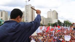 Nicolás Maduro, ante un grupo de simpatizantes chavistas