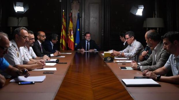 Mariano Rajoy mantiene una reunión con los responsables de seguridad