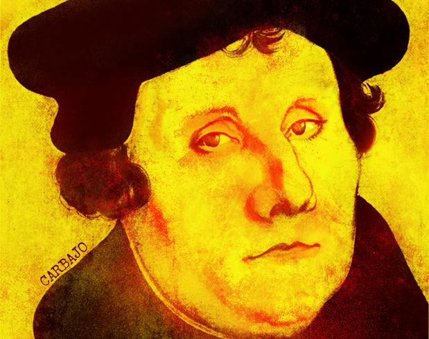 Lutero y tres antípodas