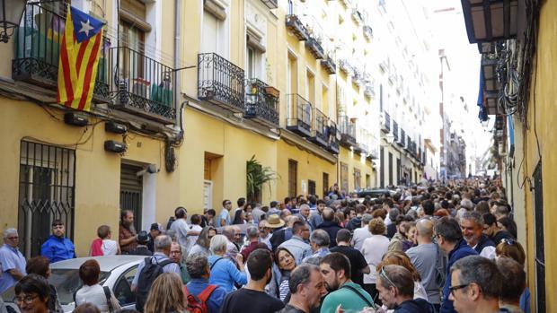 Acto en favor del referéndum en Cataluña